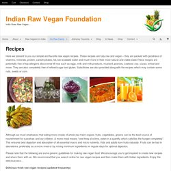 Indian Raw Vegan Foundation