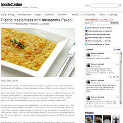 Risotto Masterclass with Alessandro Pavoni « Inside Cuisine