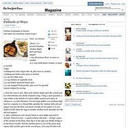 Recipes - Paillards 10 Ways