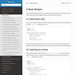 4. Basic Recipes — Picamera 1.9 documentation