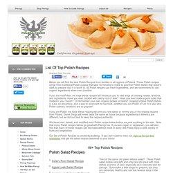 Polish Salads, Soups, Pierogi, Desserts