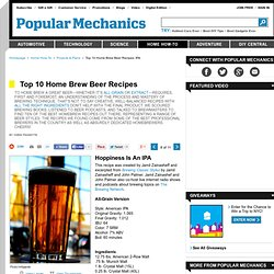 India Pale Ale - Beer Recipes - Popular Mechanics