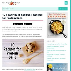 Recipes for Protein Balls