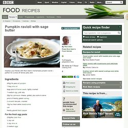 BBC - Food - Recipes : Pumpkin ravioli with sage butter