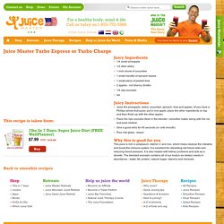 Recipes - Smoothies - Juice Master's Turbo Express