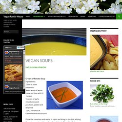Vegan Soup Recipes - warming, healthy and simple cooking