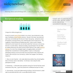 Reciprocal reading « nickynewbury