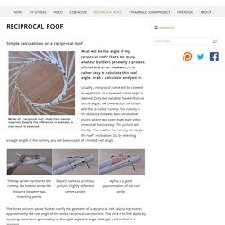Reciprocal roof