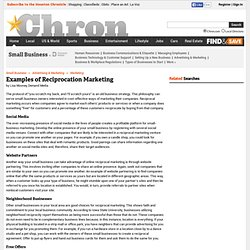 Examples of Reciprocation Marketing