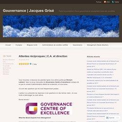 C.A. et direction – Gouvernance