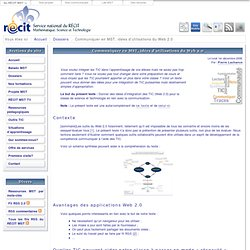 Applications Web 2.0 en SCT