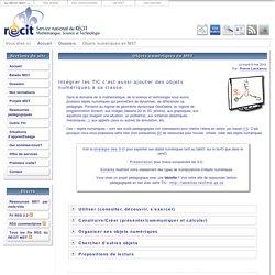 Objets numériques en MST