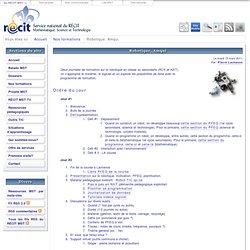 Service national du RÉCIT - Mathématique, Science et Technologie > Robotique, Amqui