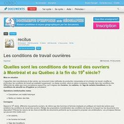 Conditions de travail des ouvriers au XIXe (Québec)