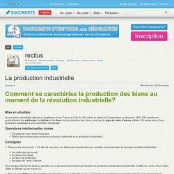 Caractéristiques de la production industrielle