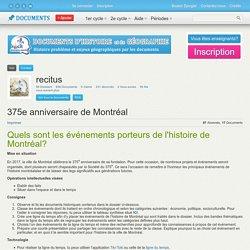 375e: Histoire de Montréal