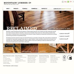 Mountain Lumber - Reclaimed Antique Flooring