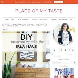 DIY RECLAIMED WOOD BUFFET- IKEA HACK