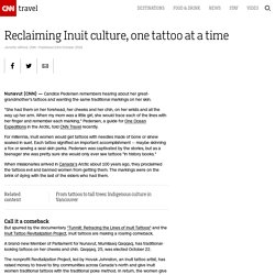 Reclaiming Inuit culture, one tattoo at a time