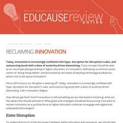 Reclaiming Innovation