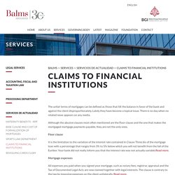 Claims to Financial Institutions