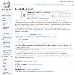 Réclamation client