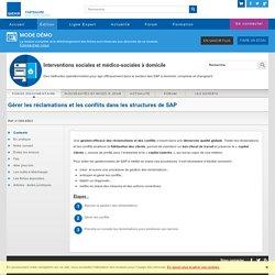 Gérer les réclamations et les conflits dans les structures de SAP - Action sociale