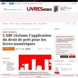 L'ABF réclame l'application du droit de prêt pour les livres numériques