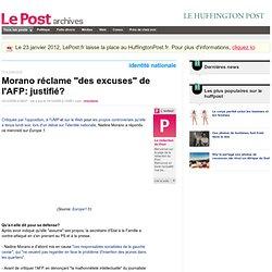 """Morano réclame """"des excuses"""" de l'AFP: justifié? - LePost.fr"""