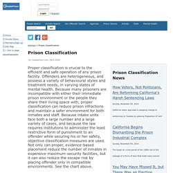 Prison Classification & Reclassification, Custody Placement and Risk Assessment