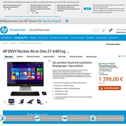 HP ENVY Recline All-in-One 27-k401ng - HP Store Deutschland