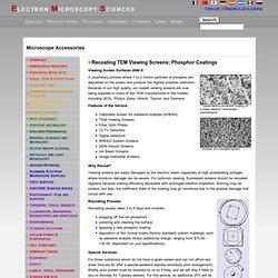 Recoating TEM Viewing Screens; Phosphor Coatings