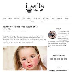 How to Recognise Food Allergies in Children