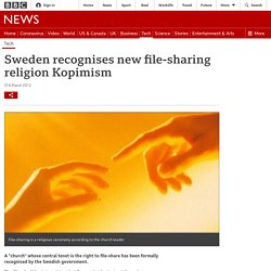 Sweden recognises new file-sharing religion Kopimism