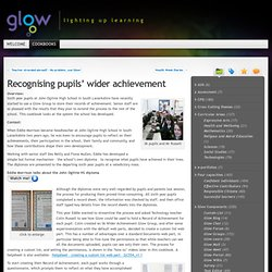 Recognising pupils' wider achievement « Glow Cookbooks