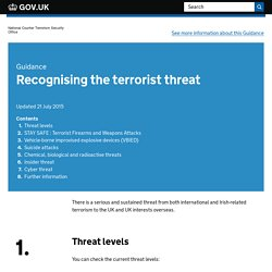 Recognising the terrorist threat