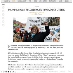Poland is Finally Recognising its Transgender Citizens
