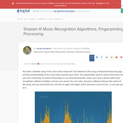 Music Recognition Algorithm: How Shazam Works