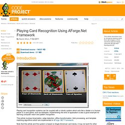 Playing Card Recognition Using AForge.Net Framework