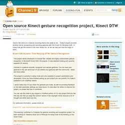 Open source Kinect gesture recognition project, Kinect DTW