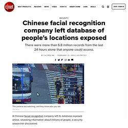 Chinese facial recognition company left database of people's locations exposed