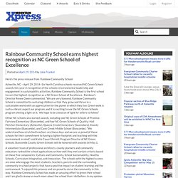Rainbow Community School earns highest recognition as NC Green School of Excellence