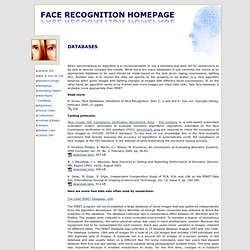 Face Recognition Homepage - Databases
