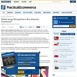 Mobile Image Recognition to Revolutionize Ecommerce?