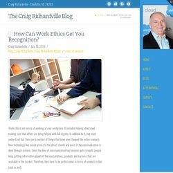 How Can Work Ethics Get You Recognition?