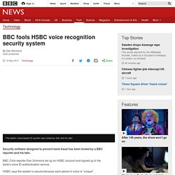 BBC fools HSBC voice recognition security system