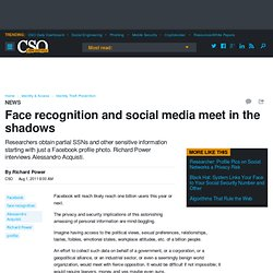 Face recognition and social media meet in the shadows