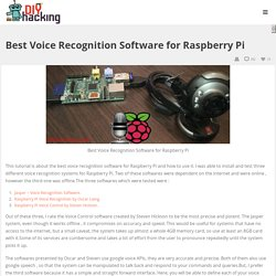 Best Voice Recognition Software for Raspberry Pi - DIY Hacking