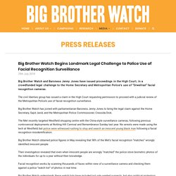 Big Brother Watch Begins Landmark Legal Challenge to Police Use of Facial Rec...