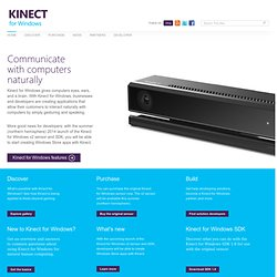 Download the Developer SDK for the Kinect